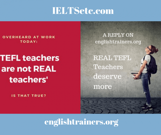 TEFL Teachers and other quality English language service providers deserve more